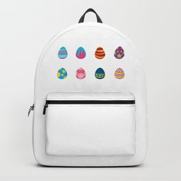 Eight Colorful Easter Eggs Backpack