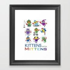 Kittens with Mittens Framed Art Print