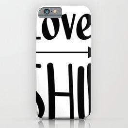 Love Fishing iPhone Case