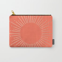 Simply Sunburst in Deep Coral Carry-All Pouch