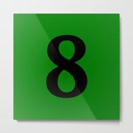 8 (BLACK & GREEN NUMBERS) Metal Print
