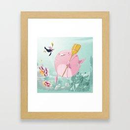 Chloé underwater Framed Art Print
