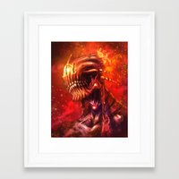 mars Framed Art Prints featuring Mars by Vincent Vernacatola