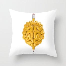 Pencil Brain Throw Pillow