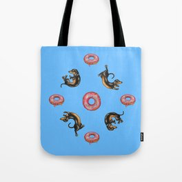 Dachshunds & Donuts Tote Bag