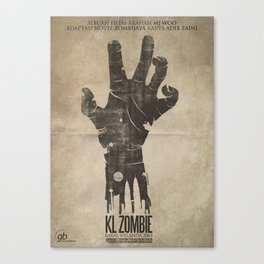 KL Zombie Fan Art Poster Canvas Print