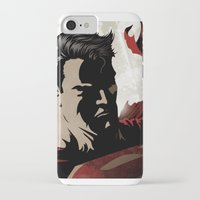 man of steel iPhone & iPod Cases featuring MAN OF STEEL by Taylor Callery Illustration