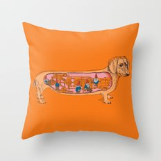 Secrets of the Dachshund  Throw Pillow