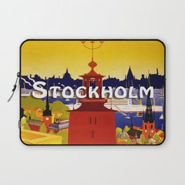 Vintage Stockholm Sweden Travel Laptop Sleeve
