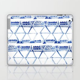 Tribal indigo pattern Laptop & iPad Skin