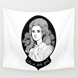 Sad Girl Wall Tapestry