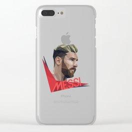 Leo Messi pop art Clear iPhone Case