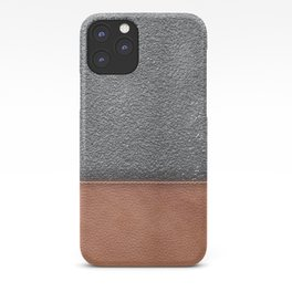 concrete and leather  iPhone Case
