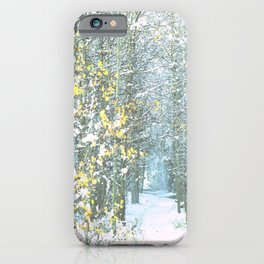 Last Leaves of Fall iPhone Case