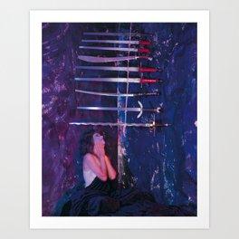 9 of Swords Art Print