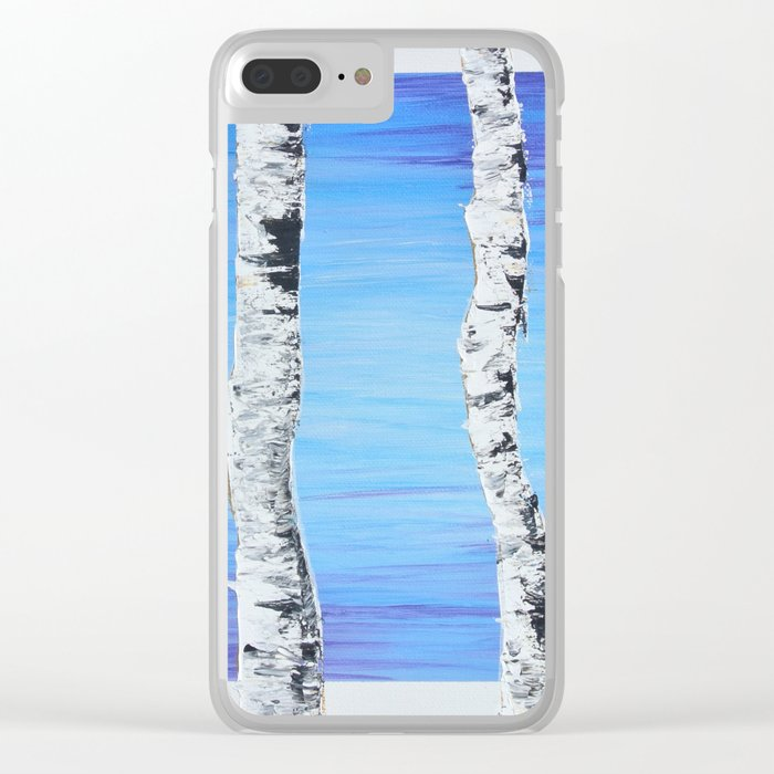 Forest Sentries Clear iPhone Case