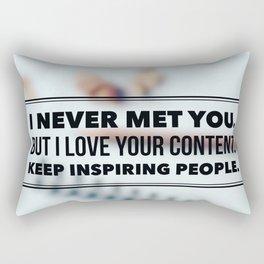 Keep Inspiring People Rectangular Pillow