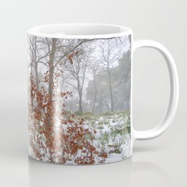Foggy Oaks. Snowing Into The Woods Coffee Mug