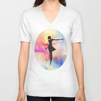 game of thrones V-neck T-shirts featuring game  by tatiana-teni
