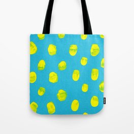 Turquoise Mustard Tote Bag
