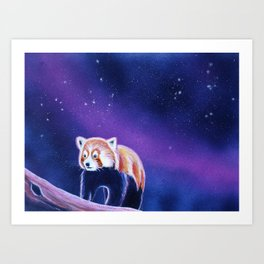 Red Panda Painting II Art Print