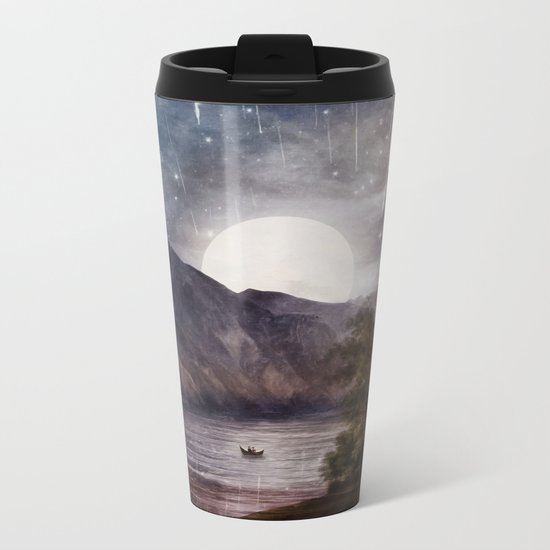 Love under A Wishing Star Sky Metal Travel Mug