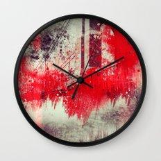 A Season Of Rough Waters Wall Clock