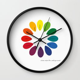 {Colour wheel} Wall Clock