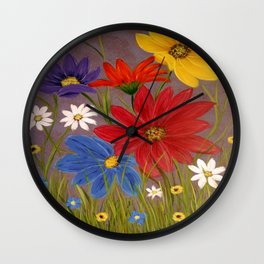 Wildflower-2 Wall Clock