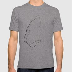 Oneline Tiger LARGE Mens Fitted Tee Tri-Grey
