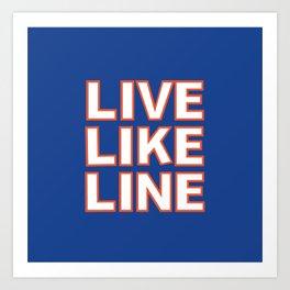 LIVE LIKE LINE Volleyball Art Print