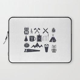 Bushcraft Icons and Hiking Symbols Laptop Sleeve