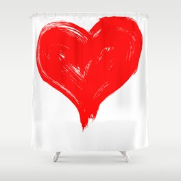 Red Heart painting Shower Curtain