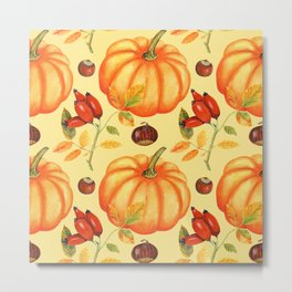 Harvest Pumpkin Metal Print