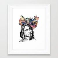 kurt rahn Framed Art Prints featuring Kurt by GabriielleViictoriia