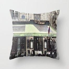 Paris - Restaurant Throw Pillow