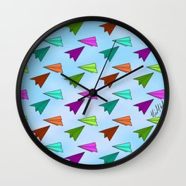 Paper Fliers Wall Clock