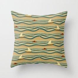 Sailing pattern 1d Throw Pillow