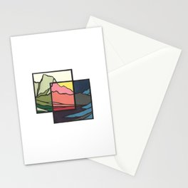 Day, Night & Between Stationery Cards
