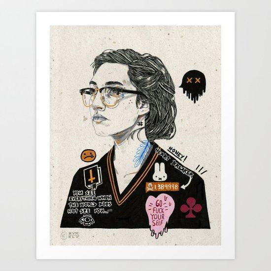 Heart Breaker. Art Print