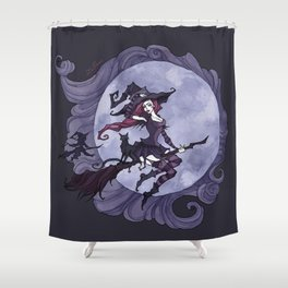 Flying Witches Shower Curtain