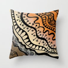 From copper to bronze tangled Throw Pillow