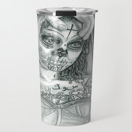 Sugarskull Tattooed Natalie Portman Travel Mug