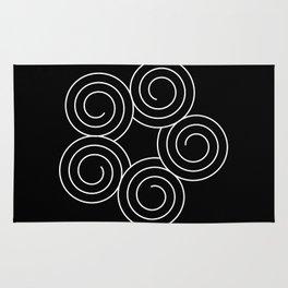 Invert spirals Rug