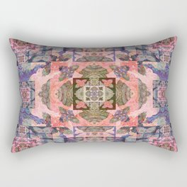 Tibetan Meditation Fractal Medallion Rectangular Pillow