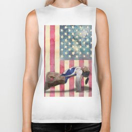 All American Gymnast Watercolor Biker Tank