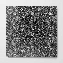 Vintage biker pattern Metal Print
