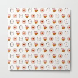 Kawaii Afternoon Tea Metal Print