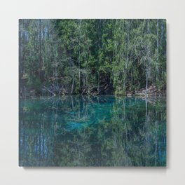 Magical Atmosphere By The Forest Source - Beautiful Reflection #decor #society6 #buyart Metal Print