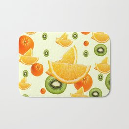 TROPICAL KIWI-ORANGES KITCHEN ART Bath Mat